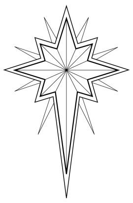e10f8_Religious_Christmas_Clip_Arts_christmasstar3bw