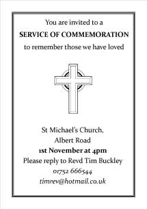 Commemoration service flyer