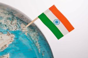 Indian-Flag-on-Map