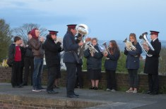 Singing God's praises with the help of the Salvation Army band