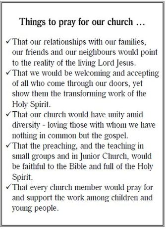 How to pray for your church #1