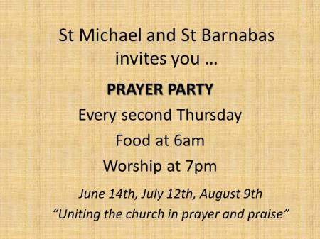 Prayer party June 18